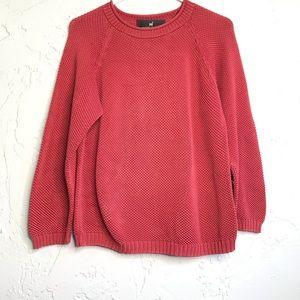 Peruvian Connection Pima Cotton Dusty Rose Sweater